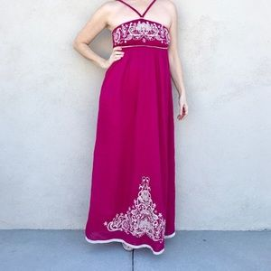 MM COUTURE maxi dress GOWN Embroidery long floral